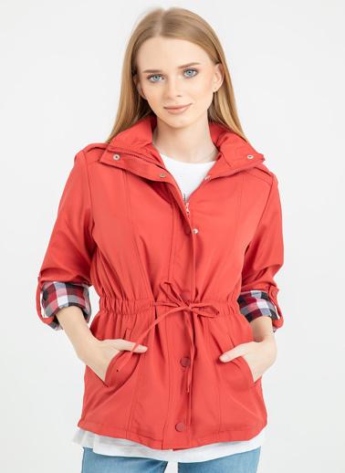Foremia Bonding Kısa Yağmurluk Şapkalı Kırmızı